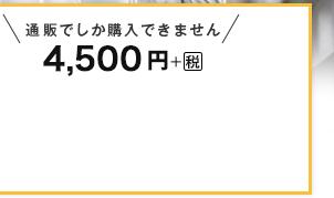 4,500円+税 通販でしか購入できません。