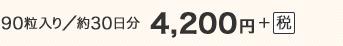 90粒入り/約30日分 4,200円+税