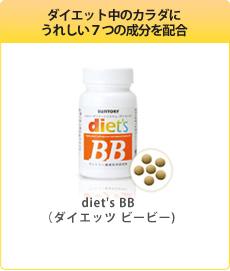 ダイエット中のカラダにうれしい7つの成分を配合「diet's BB(ダイエッツ ビービー)」