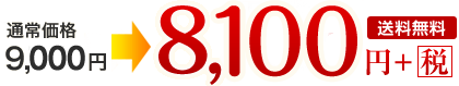 通常価格9,000円→8,100円+税