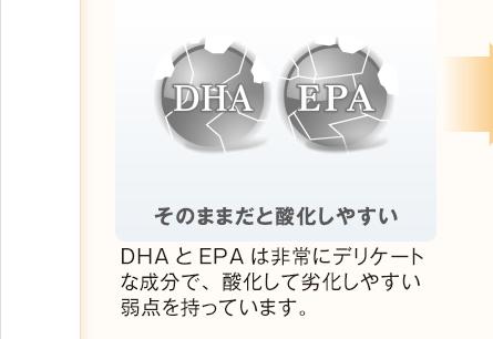 そのままだと酸化しやすい DHAとEPAは非常にデリケートな成分で、酸化して劣化しやすい弱点を持っています。