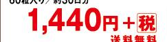 60粒入り/約30日分 1,440円+税 送料無料