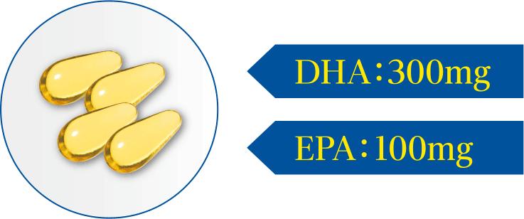 DHA:300mg EPA:100mg